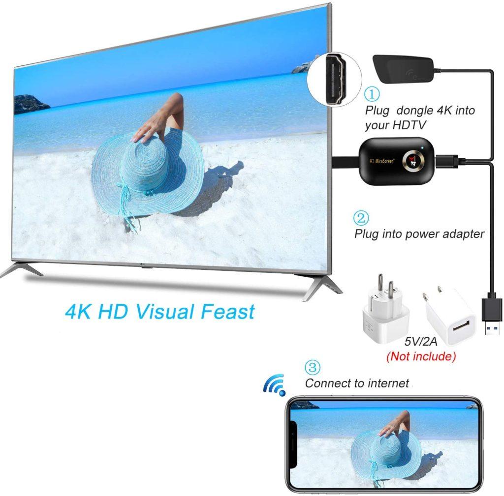 Wireless Display Adapter YEHUA 4k HDMI