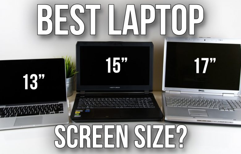 What are the standard laptop sizes